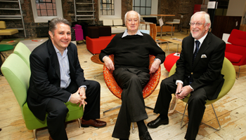 CEO Nick Waight, Architect Kevin Roche and Chairman Dermod Dwyer