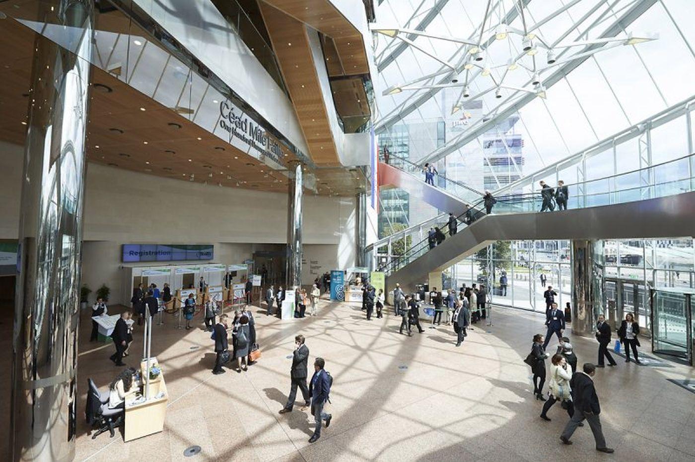 Foyer Area News : Ground floor foyer the convention centre dublin