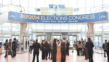 EPP Congress 2014 Ground Floor Foyer https://www.flickr.com/photos/eppofficial/