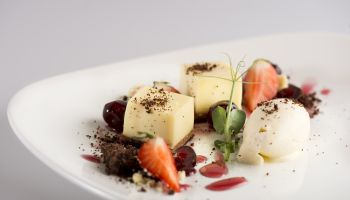 Fine Dining Menu - Deconstructed Black Forest Crumble